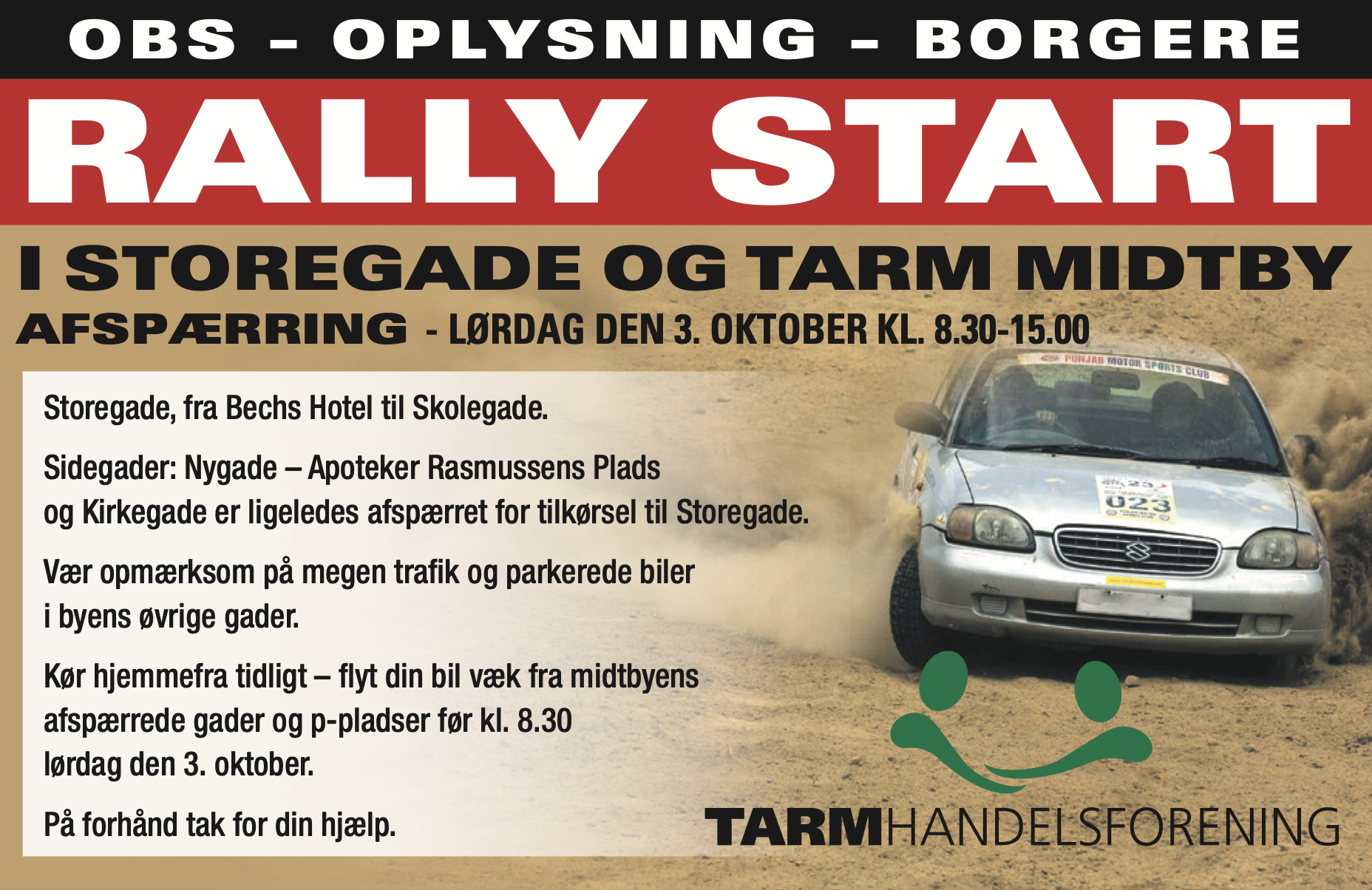 Rally - med start i Tarm