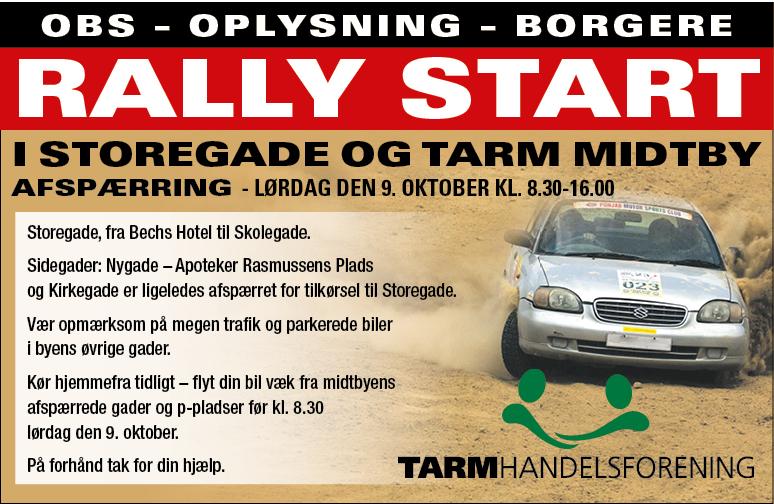 Rally - mere info følger